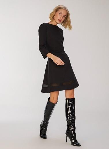 People By Fabrika Bant Detaylı Elbise Siyah
